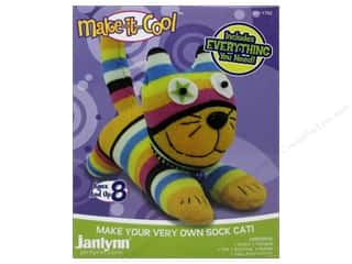 Socks Projects & Kits: Janlynn Kit Make It Cool Sock Animal Claire The Cat