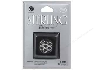 New $6 - $12: Cousin Elegance Sterling Split Ring 6mm 12pc