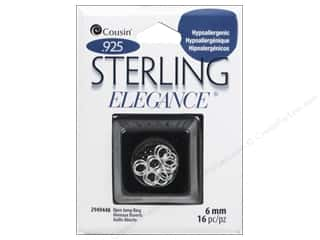 New mm: Cousin Elegance Sterling Open Jump Ring 6mm 16pc