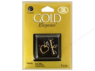 Cousin Corporation of America Hearts: Cousin Elegance 14K Gold Plated Clasp Toggle Heart