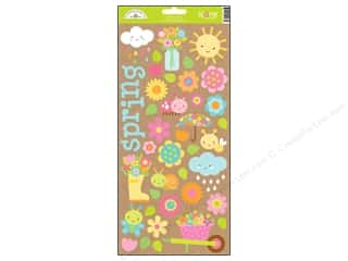Theme Stickers / Collection Stickers: Doodlebug Hello Sunshine Collection Sticker Icons (12 sets)