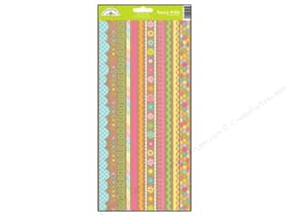 Border Stickers / Corner Stickers: Doodlebug Hello Sunshine Collection Sticker Fancy Frills (12 sets)