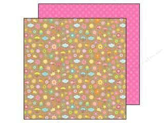 Spring Printed Cardstock: Doodlebug Paper 12 x 12 in. Hello Sunshine Thoughts Of Spring (25 pieces)