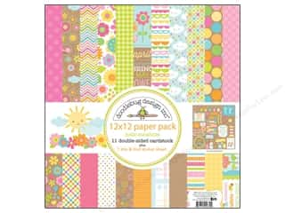 Holiday Sale Printed Cardstock: Doodlebug Hello Sunshine Collection Paper Pack
