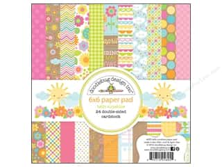 Cardstock  6x6: Doodlebug Paper Pad 6 x 6 in. Hello Sunshine