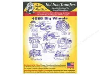 yarn draw: Aunt Martha's Hot Iron Transfers #4026 Big Wheels