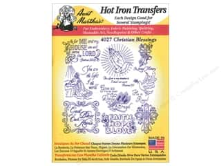 yarn draw: Aunt Martha's Hot Iron Transfers #4027 Christian Blessings