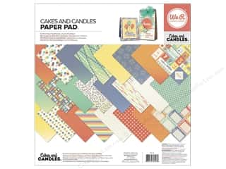 "Party Candles / Birthday Candles: We R Memory Keepers Cakes & Candles Paper Pad 12""x 12"""