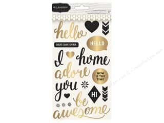phrase stickers: Pebbles Jen Hadfield Cottage Living Collection Sticker Puffy Phrases