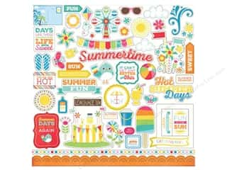 Caption Stickers / Frame Stickers: Echo Park Sticker 12 x 12 in. I Love Sunshine Elements (15 sets)