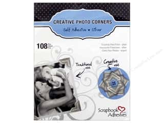 photo corner paper punch: 3L Scrapbook Adhesives Photo Corners Paper 126 pc. Silver