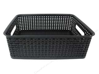 scrapbooking storage: Storage Studios Bin Weave Medium Black