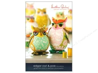 home decor pattern: Heather Bailey Edgar Owl & Poe Pattern
