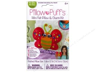 Weekly Specials Scrapbooking Kits: Darice Pillow Puff Felt & Charm Kit Mini Butterfly Pillow