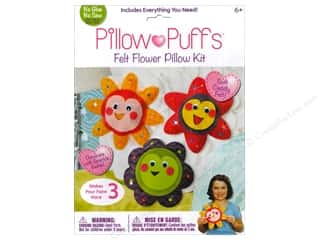 Weekly Specials Needle Felting: Darice Pillow Puff Felt Kit Felt Flowers