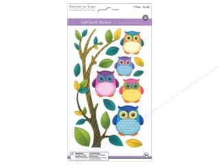 Multicraft Sticker 3D Soft Touch Owl Buddies Picture
