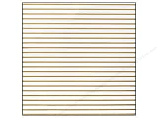 cardstock vellum: American Crafts 12 x 12 in. Cardstock DIY Shop 2 Thin Gold Stripe On White (15 sheets)
