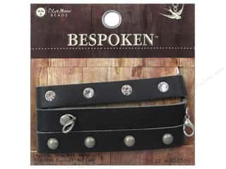 Blue Moon Beads Bracelet 22 in. Bespoken Leather Wrap Stud Black Picture
