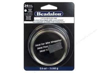 silver jewelry wire: Beadalon 1/10 Silver Filled Wire 24 ga Round Half Hard 0.5 oz.