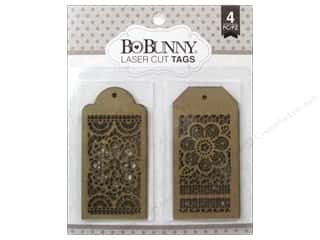 chipboard tags: Bo Bunny Essentials Chipboard Laser Cut Tags Lace