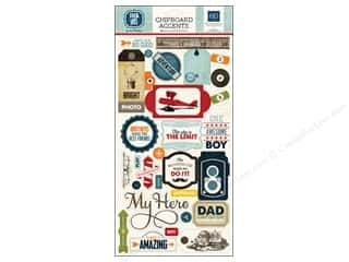 dad & gray embellishment: Echo Park Adhesive Chipboard 6 x 12 in. Jack & Jill Boy Collection