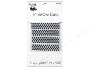 Fold-Over Elastic by Dritz 1/2 in. x 1 yd. Small Dots Snow