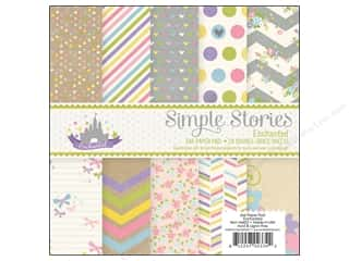 "Bo Bunny Paper Pads 6""x 6"": Simple Stories Paper Pad 6 x 6 in. Enchanted"