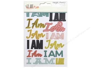 Theme Stickers / Collection Stickers: Simple Stories I AM Collection Sticker Sentiments