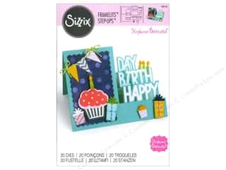 Sizzix Framelits Die Set 19PK Card Happy Birthday Step-Ups by Stephanie Barnard