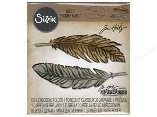 Sizzix: Sizzix Bigz Die with Texture Fades Feather Duo by Tim Holtz