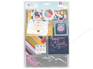 Pieceful Designs: Simple Stories Bits & Pieces SN@P!  Pack Cards & Squares Fresh