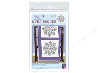 "Jack Dempsey Quilt Block 18"" 6pc White Pansies"