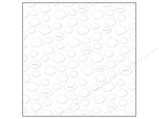 Spring Paper: Bella Blvd Clear Cuts Transparency 12 x 12 in. Simply Spring Cloud (12 pieces)