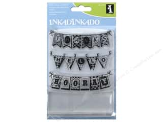 Inkadinkado Clear Stamp Set Pennants Picture