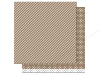 "Weekly Specials Pattern: Lawn Fawn Let's Polka Paper 12""x 12"" Milk Chocolate Line Dance (12 sheets)"