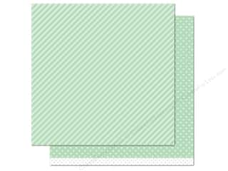 "Weekly Specials Pattern: Lawn Fawn Let's Polka Paper 12""x 12"" Mint Line Dance (12 sheets)"