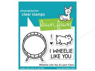 Weekly Specials Stitch Witchery: Lawn Fawn Clear Stamp Wheelie Like You