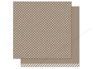 "Weekly Specials Pattern: Lawn Fawn Let's Polka Paper 12""x 12"" Milk Chocolate (12 sheets)"