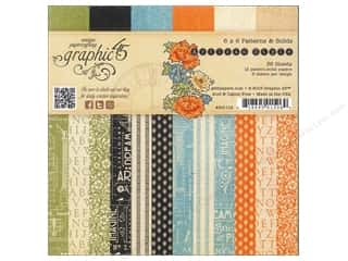 "Weekly Specials Graphic 45 Paper Pad: Graphic 45 Artisan Style Collection Paper Pad 6""x 6"" Patterns & Solids"