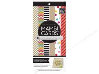 "Scrapbooking Sale Me & My Big Ideas Kits: MAMBI Cards In An Instant Card Pad 5.25""x 5.25"" Confetti & Kraft"