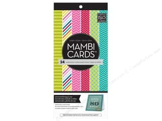 "Scrapbooking Sale Me & My Big Ideas Kits: MAMBI Cards In An Instant Card Pad 5.25""x 5.25"" Bright & Fun"