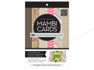 "Me : MAMBI Cards In An Instant Card Pad 5""x 7"" Confetti & Kraft"