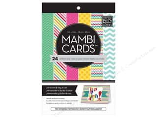 "Scrapbooking Sale Me & My Big Ideas Kits: MAMBI Cards In An Instant Card Pad 5""x 7"" Bright & Fun"