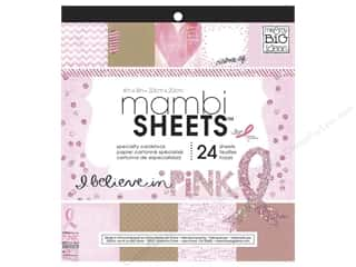 "Cardstock  8x8: Me&My Big Ideas Sheets Cardstock Pad 8""x 8"" I Believe In Pink"