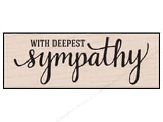 Rubber Stamps: Hero Arts Rubber Stamp With Deepest Sympathy