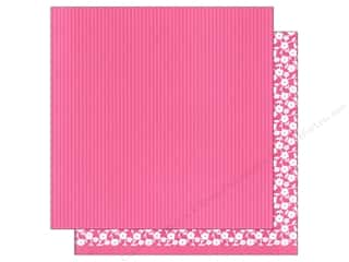 American Crafts: American Crafts 12 x 12 in. Paper Basics Stripes Pink (12 sheets)