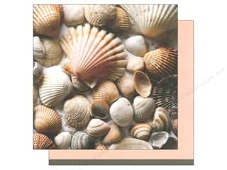 American Crafts Cardstock: American Crafts 12 x 12 in. Paper Summer Shells (12 pieces)