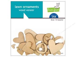 Weekly Specials Paper Packs: Lawn Fawn Lawn Ornaments Wood Veneer Hearts