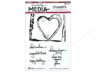 Valentines Day Gifts Stamps: Ranger Stamp Dina Wakley Media Cling Handwritten Heart Collage
