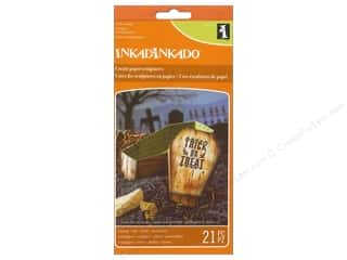Inkadinkado Clear Stamp Paper Sculpture Set Coffin